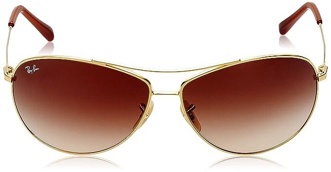 Ray-Ban Herren Sonnenbrille ORB3445E Gold (Arista 001/13), 65 (Herstellergröße: 65)