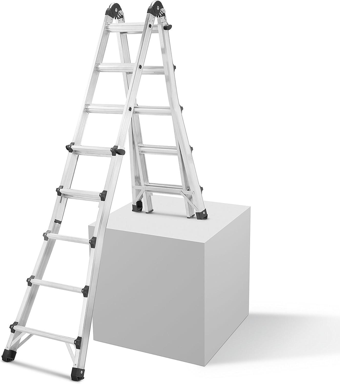 Hailo multifunción-Escalera telescópica 4 x 5 peldaños, Hailo: Amazon.es: Bricolaje y herramientas