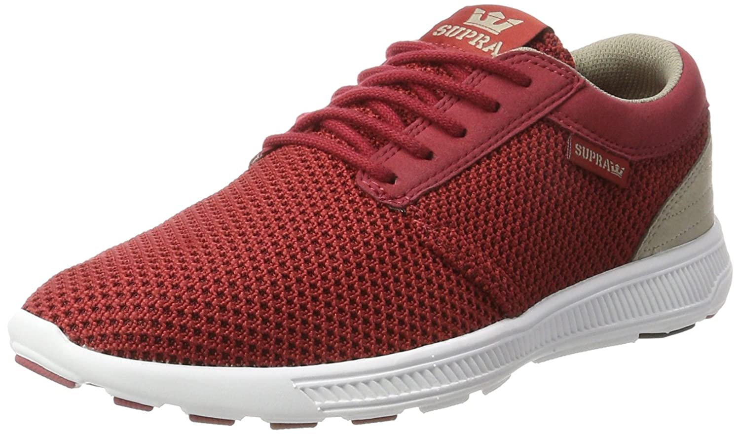 Supra Men's Hammer Run Skate Shoe B073H9J8K6 10.5 M US|Brick Red/White