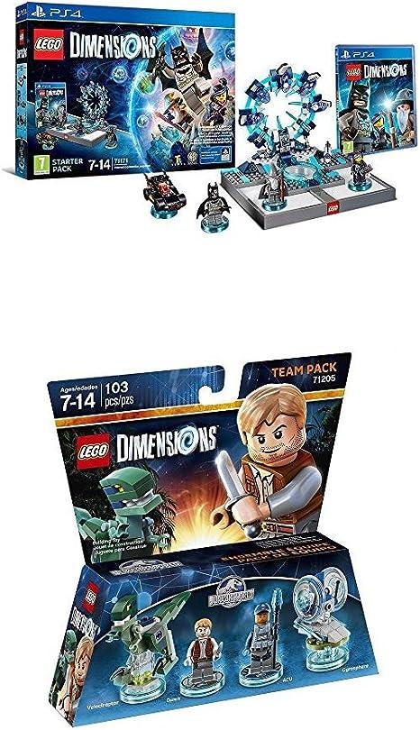 LEGO - Starter Pack Dimensions (PS4) + LEGO Dimensions - Jurassic World, Owen & ACU: Amazon.es: Videojuegos