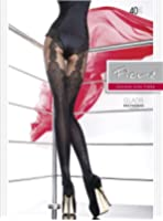 Fiore Gladis 40 Denier Mock Suspender Patterned Tights