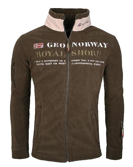 Geographical Norway Update Herren Fleece Jacke Sweater Sweatjacke Hoodie