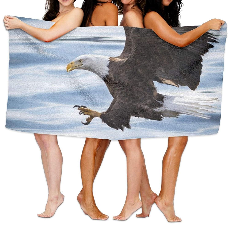 Bath Towels, Ultra Absorbent Microfiber Beach Towel For Men Women Kids, Bald Eagle Picnic Mat Meius