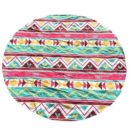Toalla de playa (LONGRA® redonda diferentes formas geométricas poliéster Glorafilia Beach Picnic manta Yoga