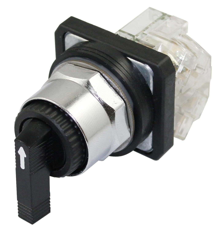 SUNS PBM30-SL3C-B-P1 30mm 3 Position Selector Switch Momentary