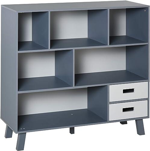 HOMCOM 3-Tier Child Bookcase Open Shelves Cabinet Floor Standing Home Office Storage Furniture Shelvin
