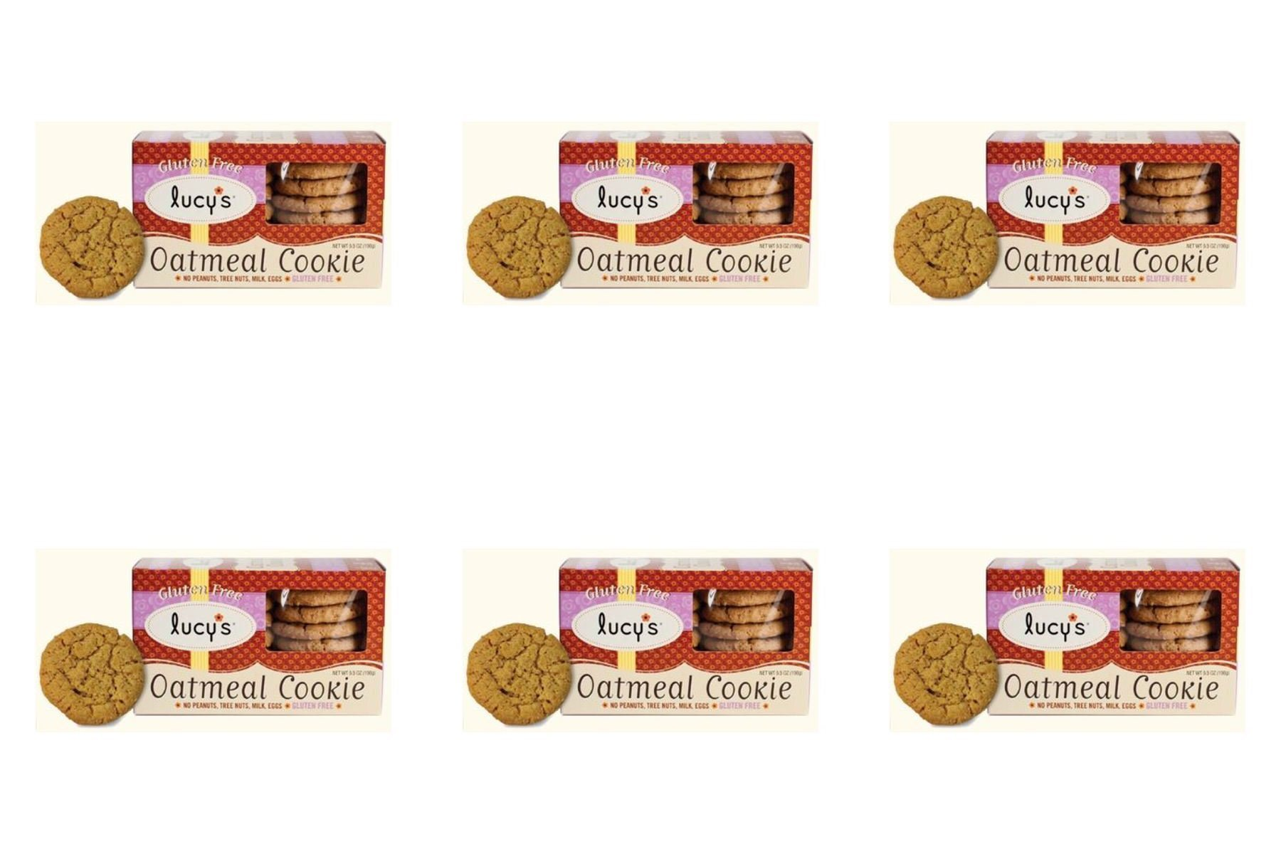 (6 PACK) - Lucy's Gluten Free Oatmeal Cookies| 156 g |6 PACK - SUPER SAVER - SAVE MONEY