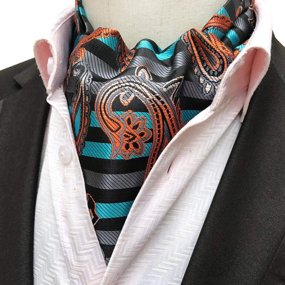Limitado Nuevo Mejor Precio VLOU Gentleman Style Men's Ascot Tie Silk Cravat Dot Flower Neckerchief Party Prom Wedding Gift Tie,LJD-01 Ljd-02 fCggOy FmR4wO
