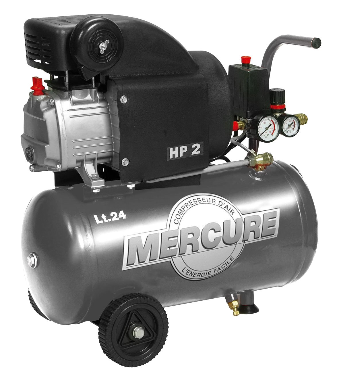 Mercure 425063 Compresseur 24 L 2 hp mercure Gris Mecafer