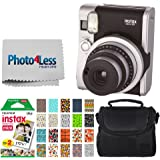 Fujifilm INSTAX Mini 90 Neo Classic Instant Camera (Black) + Fujifilm Instax Mini Instant Film (20 Exposures) + Compact…