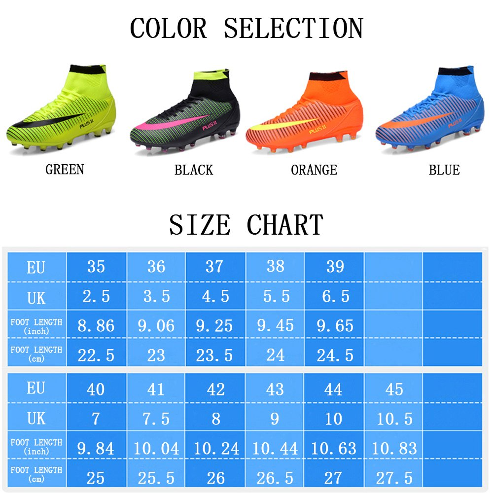11cdf459c1 WOWEI WOWEI WOWEI Chaussures de Football High Top Spike Crampons Profession  73b745