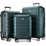 SHOWKOO Luggage Sets Expandable Suitcase Double Wheels TSA Lock (ArmyGreen)