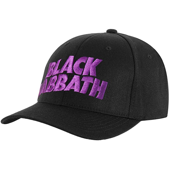 c74ef7b41b9 Amazon.com: Rock Off Black Sabbath Embroidered Logo Mens Baseball ...
