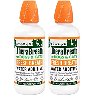 TheraBreath Fresh Breath Water Additive for Pets, 16 oz Bottle (Pack of 2)