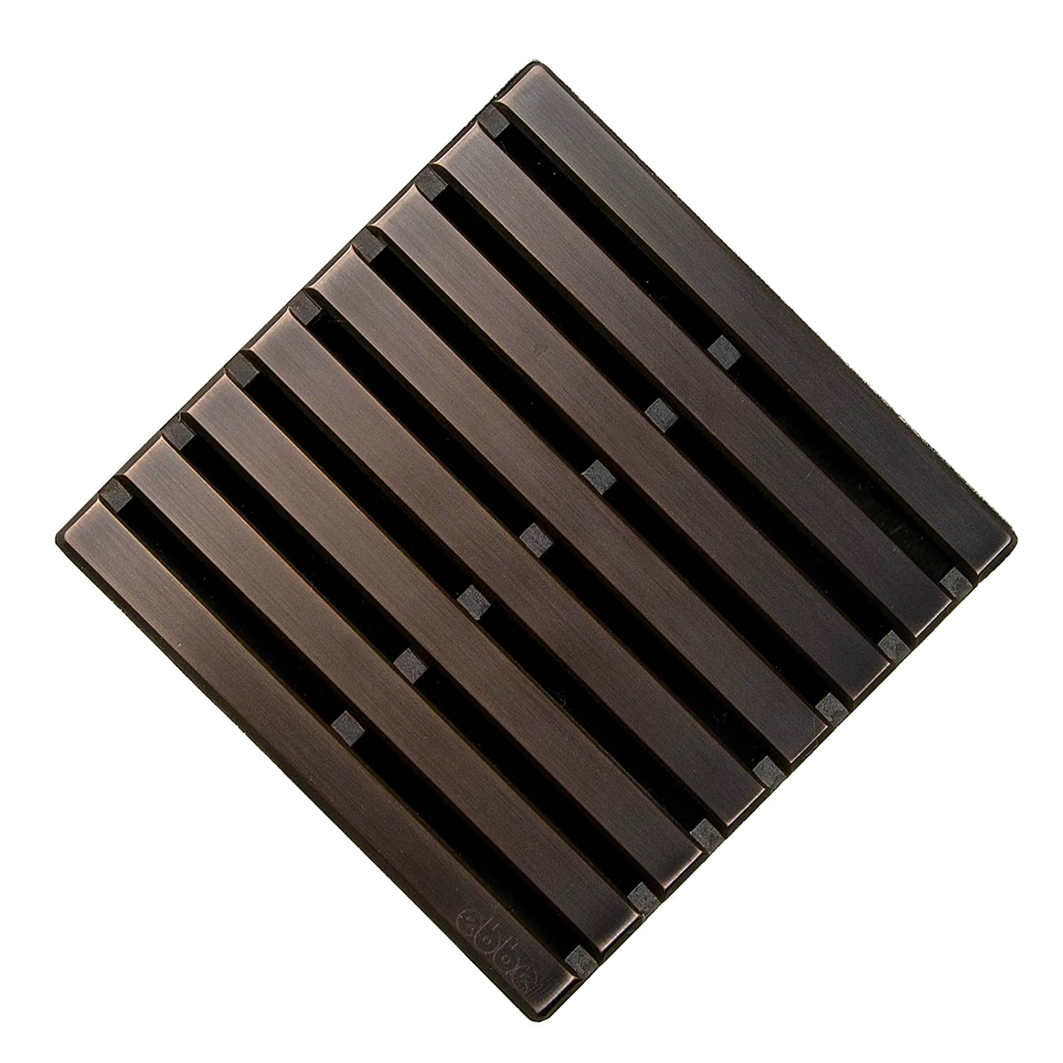 """low-cost eBBe E4811-ORB Parallel 3.75"""" x 3.75"""" Drain in Oil Rubbed Bronze"""