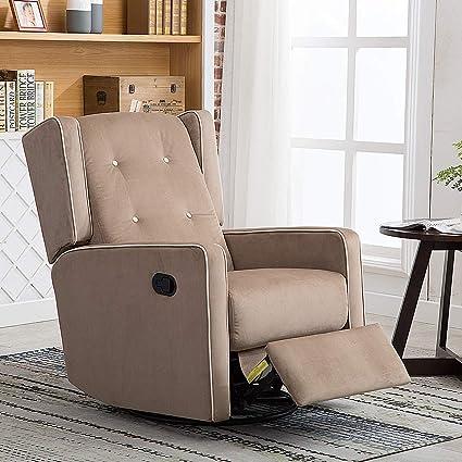 amazon com canmov microfiber swivel rocker recliner living room