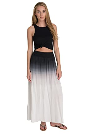72d6a6a1f2 Ardene Women's - Ombre Maxi Skirt at Amazon Women's Clothing store: