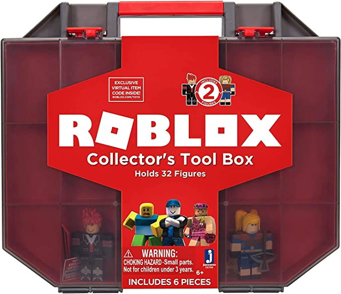 Roblox 679 Id Amazon Com Roblox Action Collection Collector S Tool Box And Carry Case That Holds 32 Figures Includes Exclusive Virtual Item Amazon Exclusive Toys Games