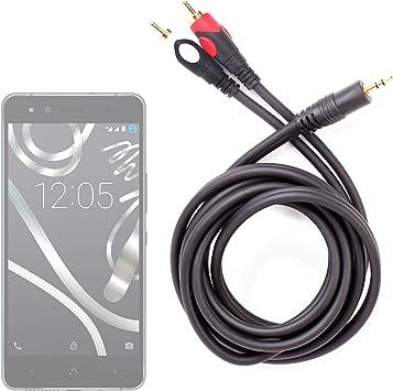DURAGADGET Cable De Audio Minijack/RCA para Smartphone BQ Aquaris ...
