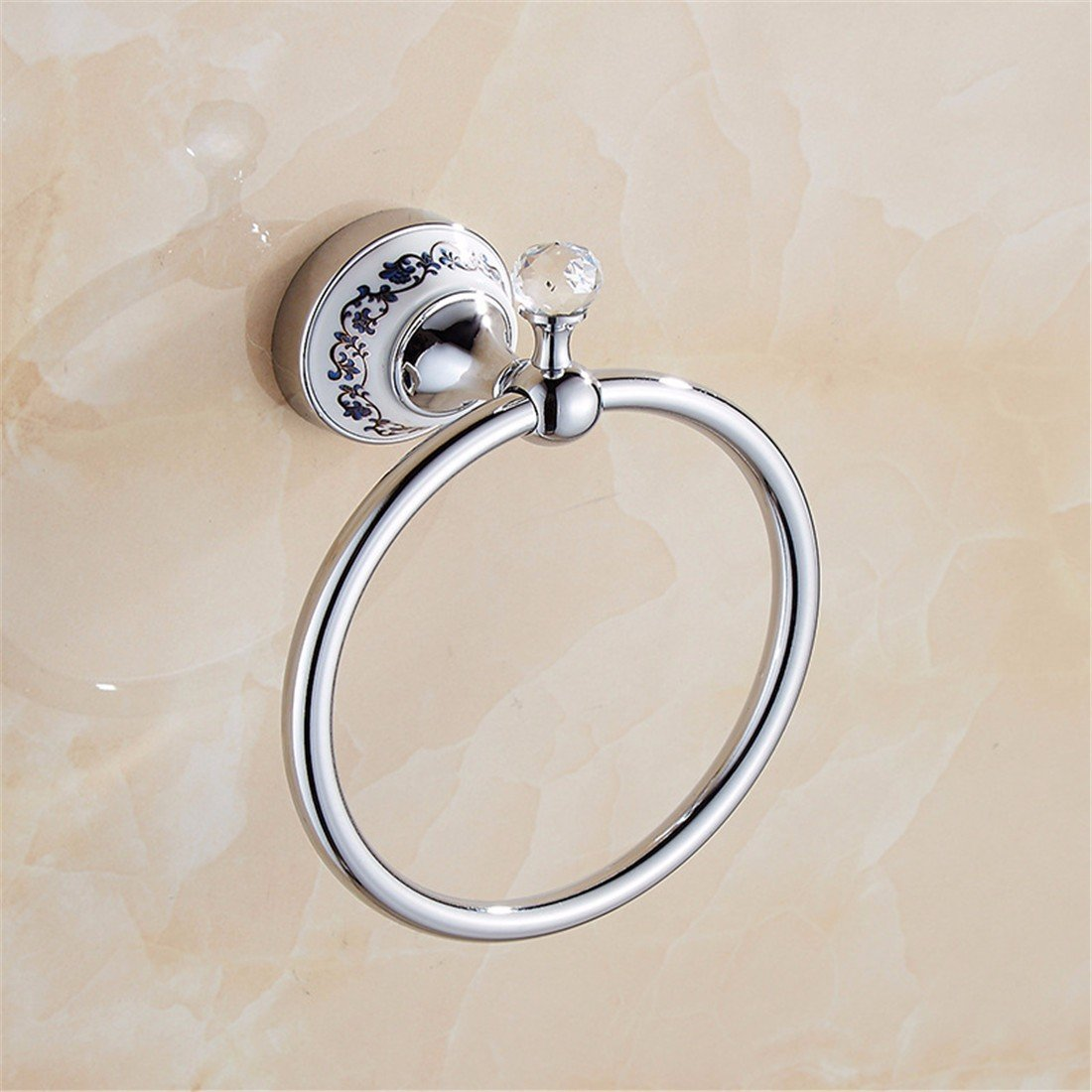 LAONA European style blue and white porcelain Crystal Silver, simple bathroom fittings, towel bar, toilet paper rack,Towel ring