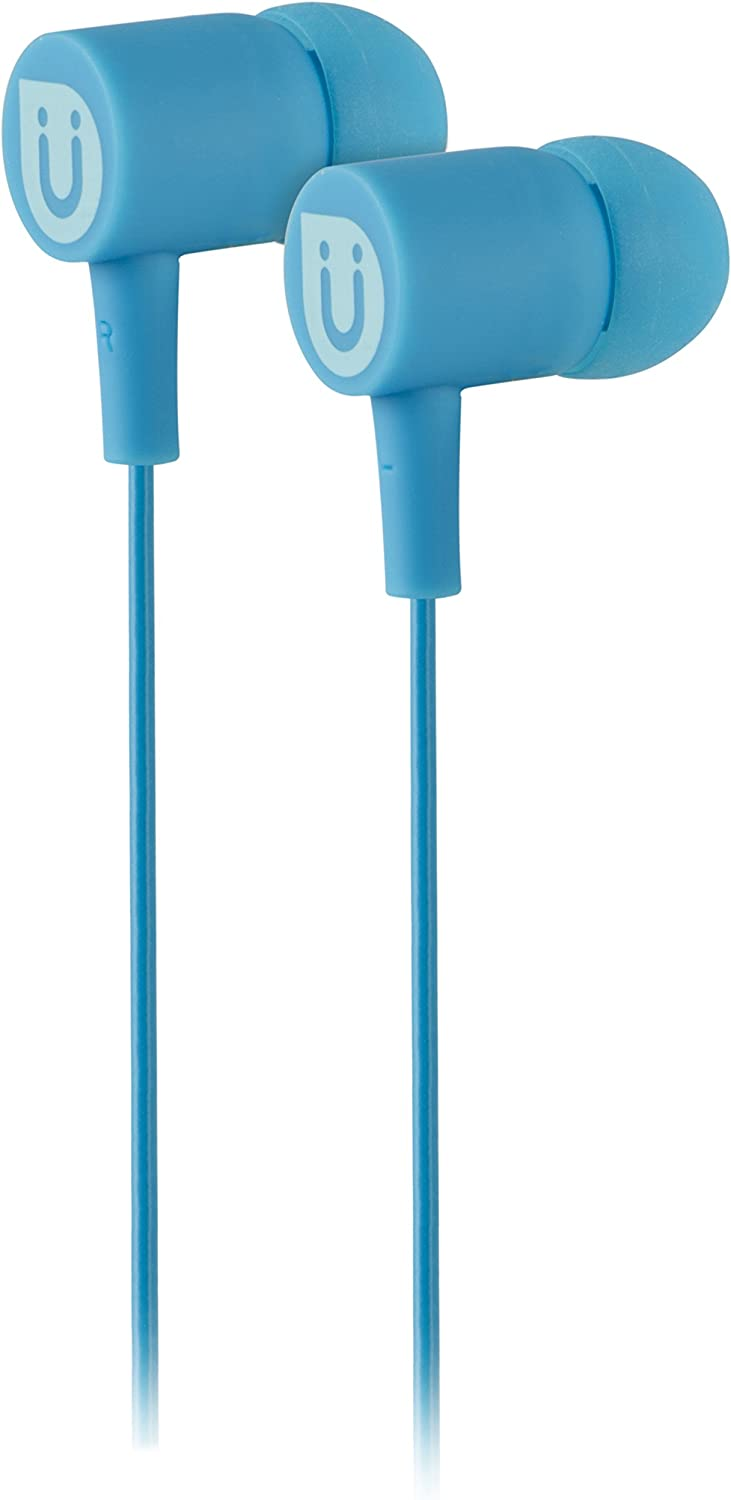 Uber in Ear Wired Earbuds, Comfortable Rubber Headphones, 3.5mm, High Sound Quality, Extra Earbud Tips, for Apple iPhone, iPad, iPod, Android Smartphones, Samsung Galaxy, Tablets & More, Blue, 13122