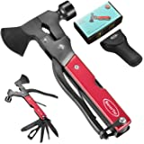 RoverTac Multitool Camping Accessories Survival Gear and Equipment 14 in 1 Hatchet with Knife Axe Hammer Saw Screwdrivers Pli