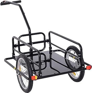 Homcom - Remolque de transporte para bicicleta, enganche para ...