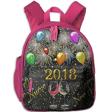 1ce617dadf 2018 Happy New Year School Book Bag Cartoon Backpack Bag For Girls Boys