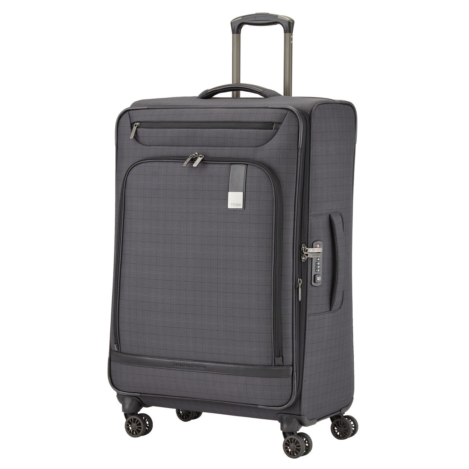 Titan CEO Executive 31'' 4 Wheel Spinner Business Case Luggage Grey by Titan