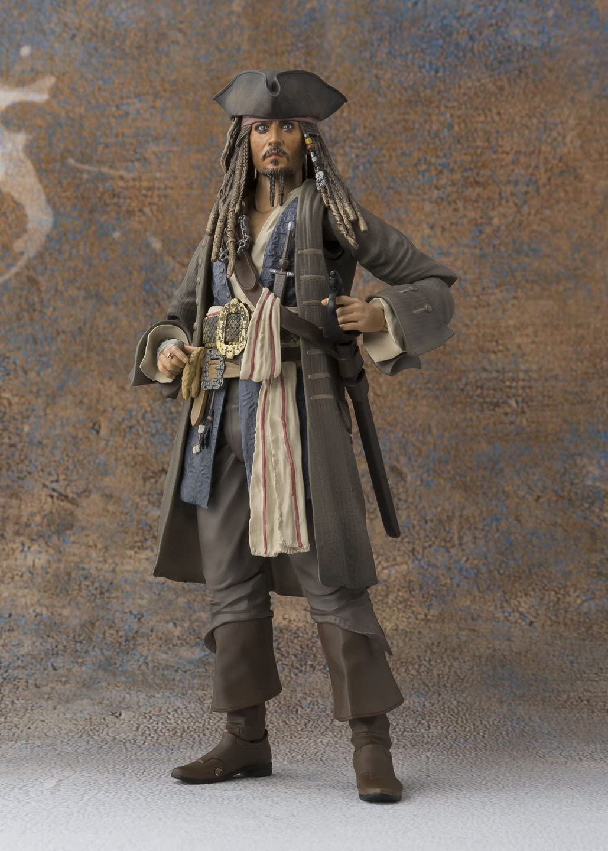 S.H.Figuarts Pirates of Caribbean Captain Jack Sparrow PVC Action Figure Toy New