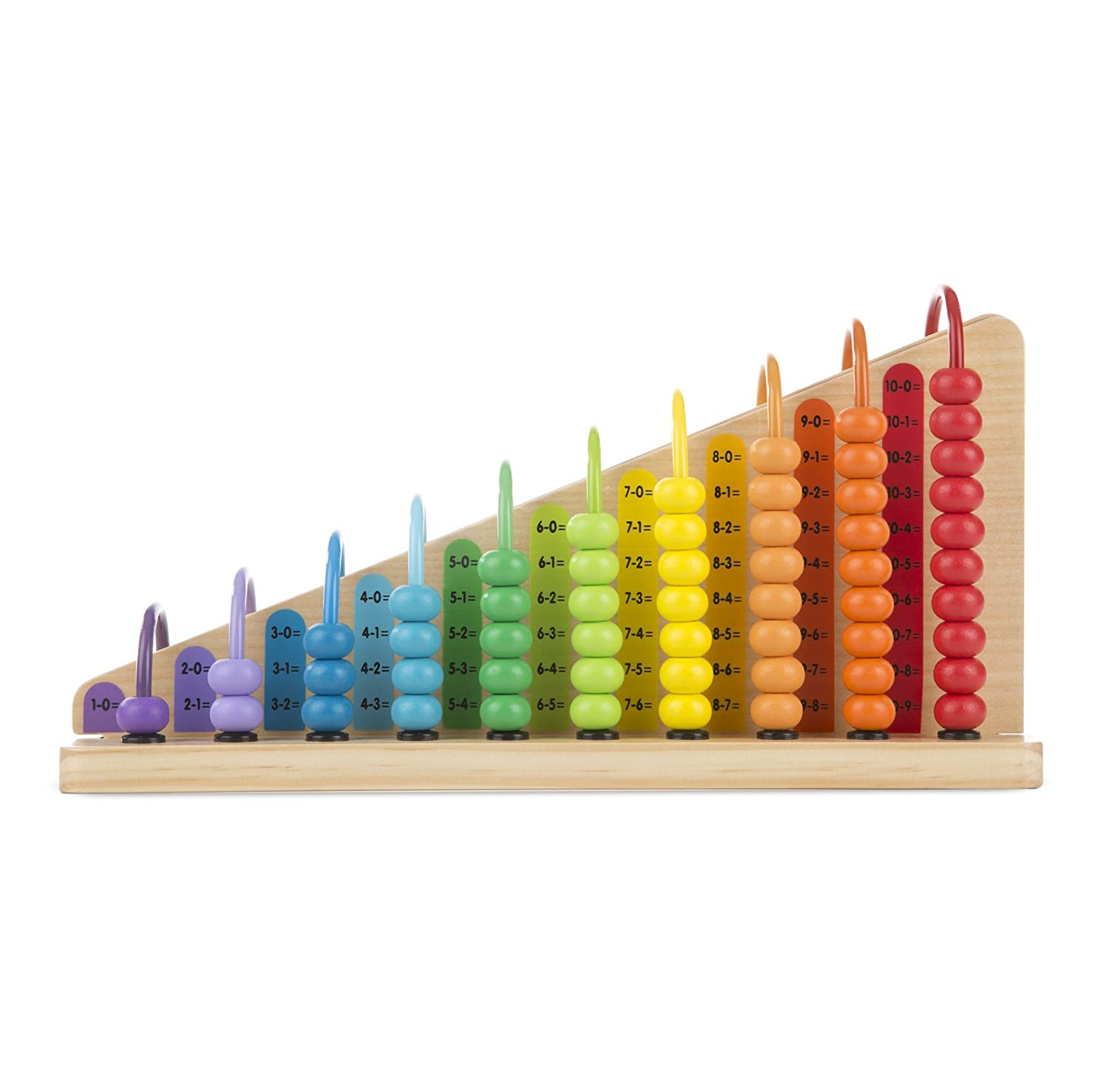 Melissa Doug Add Subtract Abacus Educational Toy With 55 Colorful Beads and Sturdy Wooden Construction