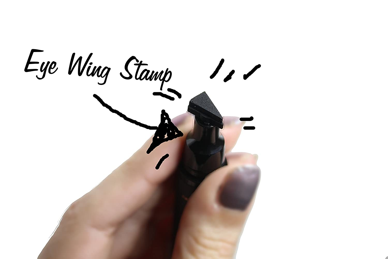 Original Sanfilippo Wing it / Eyeliner Stamp / Eye Wing Stamp / Negro (pequeño sello) / Hecho en Bélgica (pequeño sello): Amazon.es: Belleza