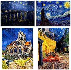 Amazon Com Alonline Art Starry Night Church Rhone Cafe