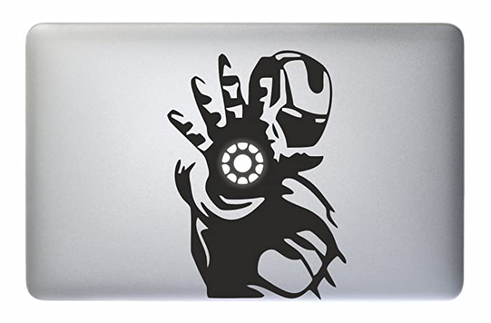 Iron man tony stark sticker decal apple macbook pro air laptop