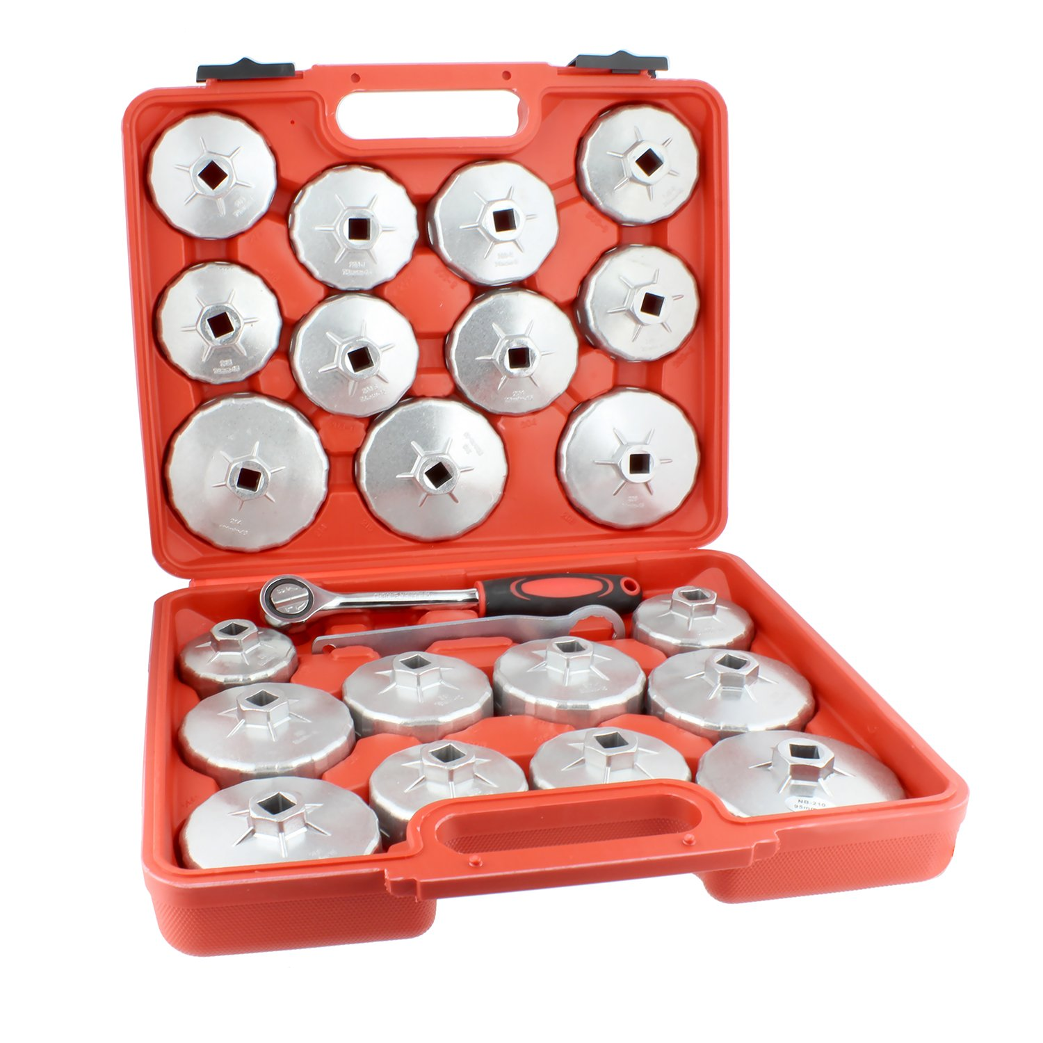 ABN 23 Piece Oil Filter Cap and 1/2in Socket Wrench Removal Tool Set