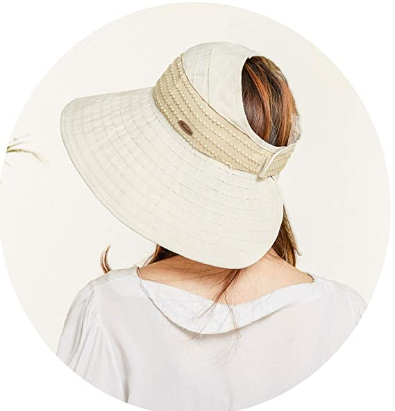 2b63a978ed83d Ladies Big Sunscreen Sun Hat Summer New Travel Folding Sun Hat Empty Top Hat