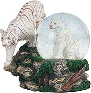 StealStreet SS-G-28052 Two White Tigers Snow Globe, 4.25