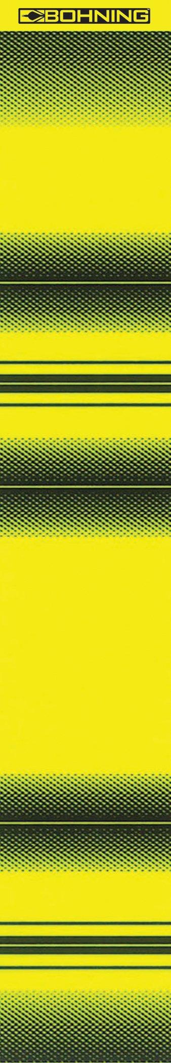 Bohning 7'' Printed Wrap 7'' Yellow Airbrush Tiger Standard Arrow Wrap, 12pk by Bohning