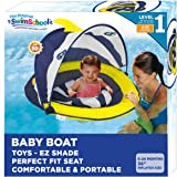 SwimSchool Splash & Play Fun-Fish Baby Pool Float with Canopy with Activity Center, Dual Air Pillow Chambers and…