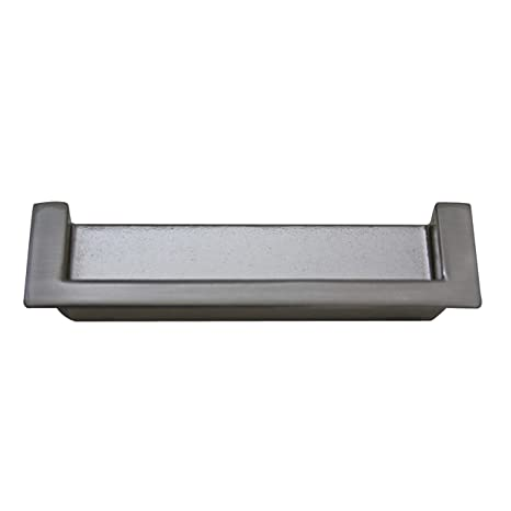 Tirador empotrado para puerta corredera (aspecto de acero ...