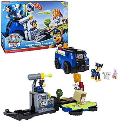 Paw Patrol, Chase's Ride 'N' Rescue, Transforming 2-in-1 Playset & Police Cruiser, for Kids Aged 3 & Up: Toys & Games