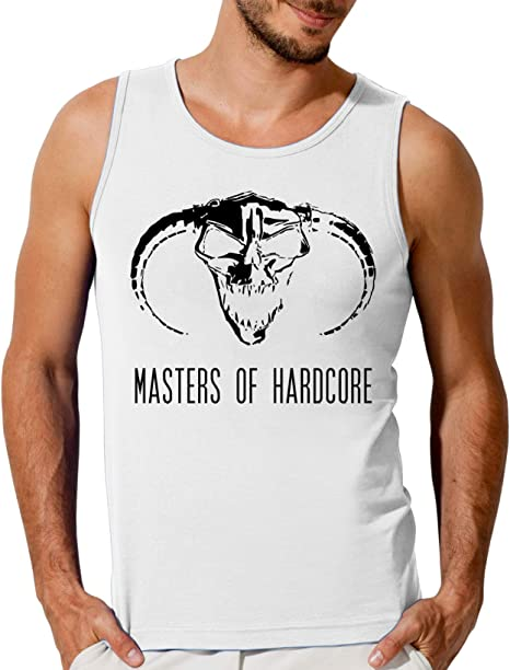 ShutUp Master of Hardcore Black Evil Logo Femmes Tank Top T-Shirt