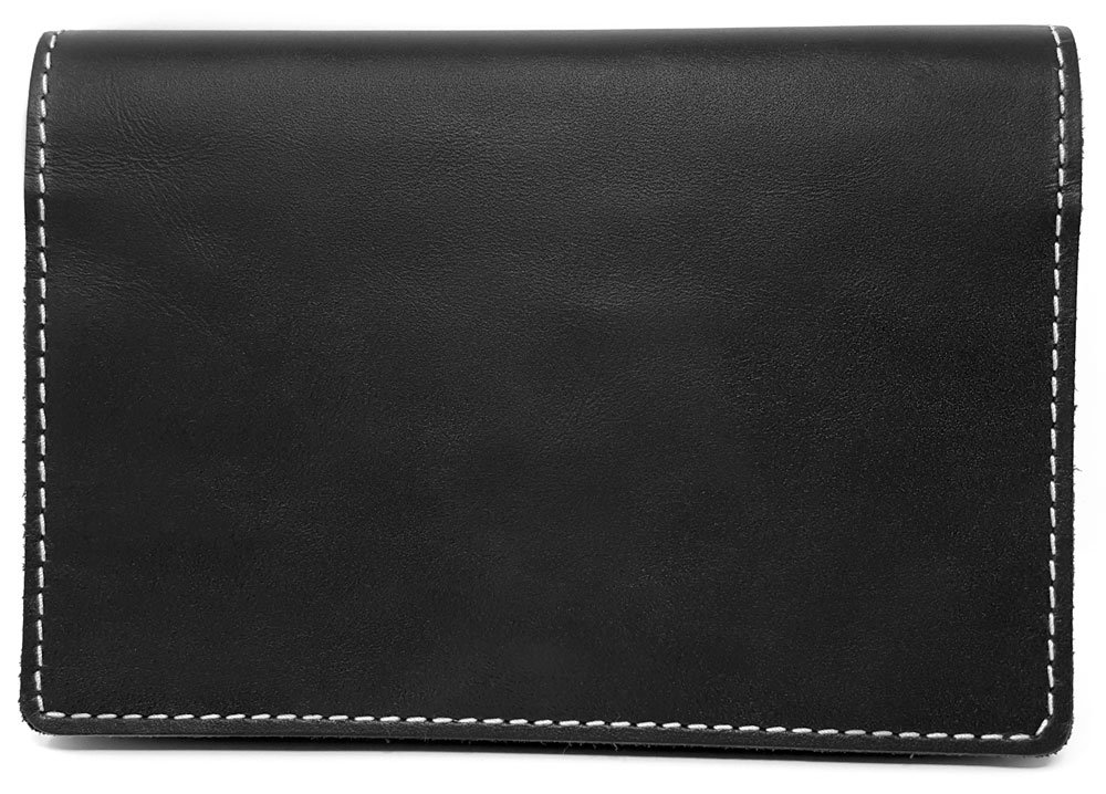 Kibodan Leather Pill Case Wallet - Weekly Pill Organizer (Black)