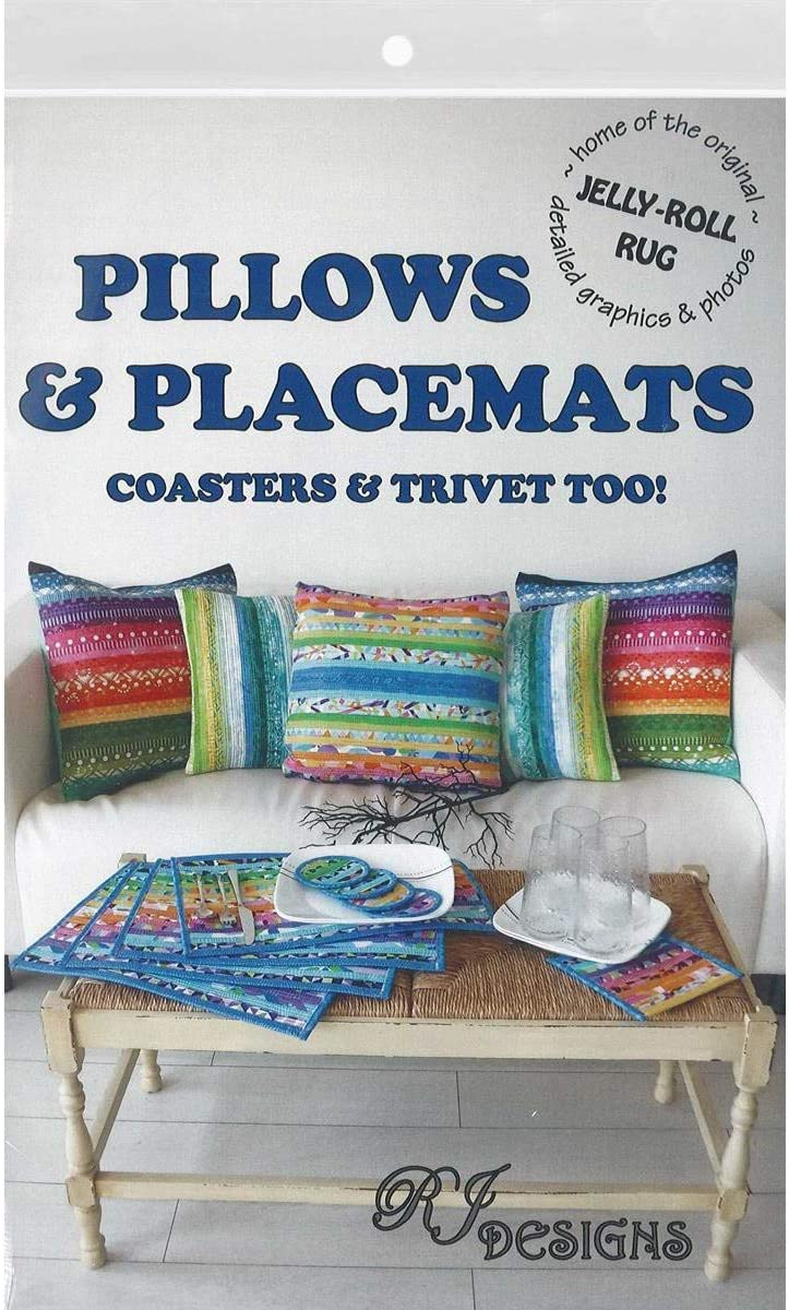 RJ Designs RJD200 Jelly Roll Pillows/&PlacmtsPtrn