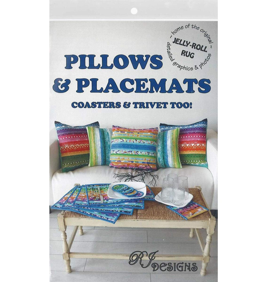 RJ Designs RJD200 Jelly Roll Pillows/&PlacmtsPtrn