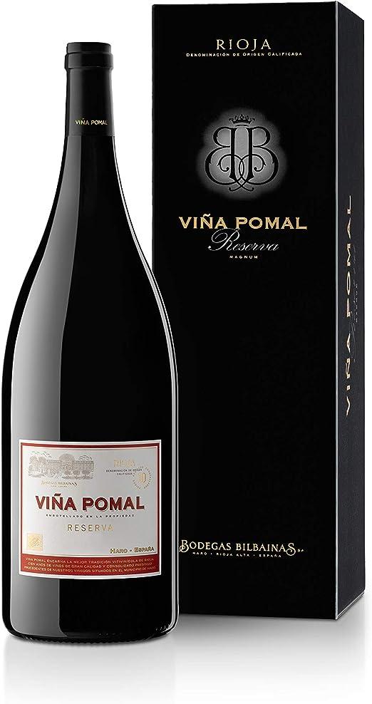 Viña Pomal   Estuche regalo Vino Tinto Reserva Magnum Viña Pomal Reserva 2013   Botella 1,5 L: Amazon.es: Alimentación y bebidas