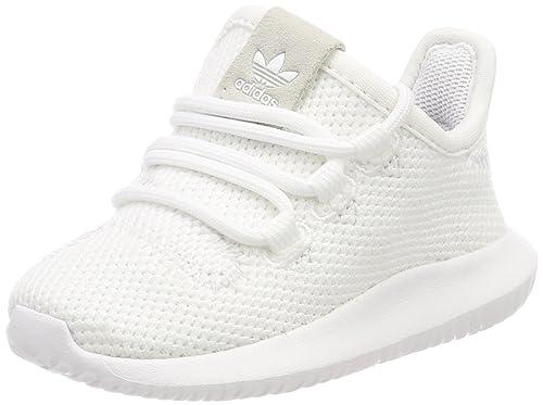 adidas Tubular Shadow I, Pantofole Unisex-Bimbi, Bianco Negbas/Ftwbla 000,