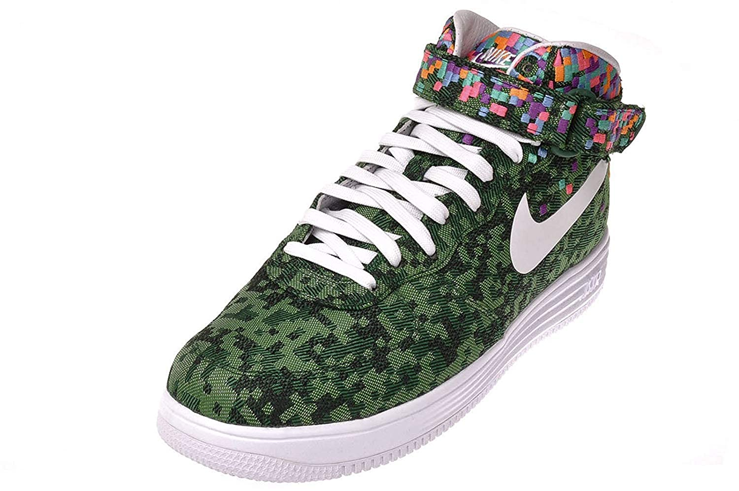 hot sales f79bb 39559 Amazon.com   Nike Lunar Force 1 Mid Jacquard JCRD SP Rio 693208-331 Pine  Green Men s Shoes (Size 9)   Fashion Sneakers
