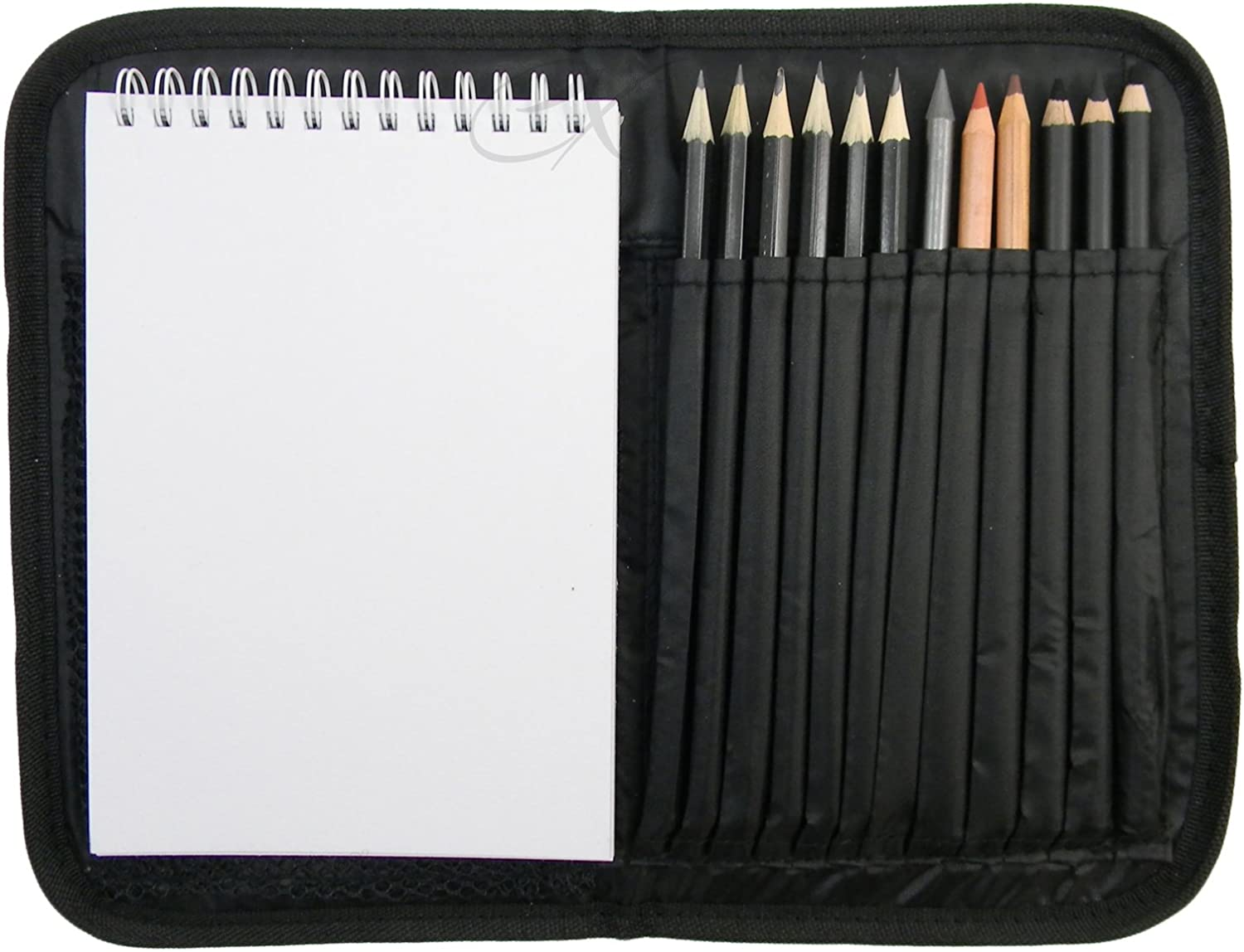 Compact and Portable Sketch Folio 1 Drawing Kit with Art Supplies Nicole PRO 3077