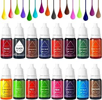 Colorante Alimentario Liquido Food Dye Coloring Set 16x11ml ...